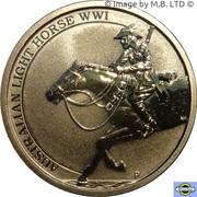 1 Dollar - Elizabeth II (4th Portrait - Australian Light Horse) -  reverse