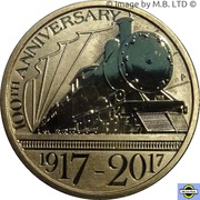 1 Dollar - Elizabeth II (4th Portrait - Trans-Australian Railway) -  reverse