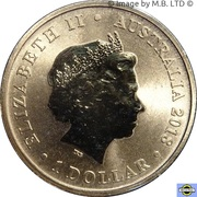1 Dollar - Elizabeth II (4th Portrait - 65th Anniversary Coronation) – obverse