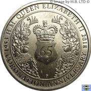 1 Dollar - Elizabeth II (4th Portrait - 65th Anniversary Coronation) – reverse