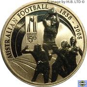 1 Dollar - Elizabeth II (4th Portrait - 150 Years of Australian Football) -  reverse