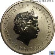 1 Dollar - Elizabeth II (4th Portrait - 85th Birthday Queen Elizabeth II) -  obverse
