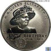 1 Dollar - Elizabeth II (4th Portrait - 85th Birthday Queen Elizabeth II) -  reverse