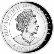 8 Dollars - Elizabeth II (6th Portrait - Australian Koala - High Relief Silver Proof) -  obverse