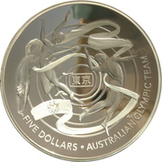 5 Dollars - Elizabeth II (6th Portrait - Australian Olympic Team) -  reverse
