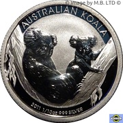 10 Cents - Elizabeth II (4th Portrait - Koala - Silver Bullion Coinage) -  reverse