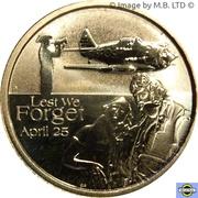 1 Dollar - Elizabeth II (4th Portrait - Lest We Forget - RAAF) -  reverse
