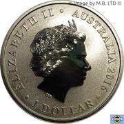 1 Dollar - Elizabeth II (4th Portrait - Lest We Forget - ANZAC Day) -  obverse