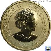 1 Dollar - Elizabeth II (6th Portrait - Welcome Stranger) -  obverse