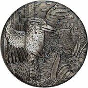 2 Dollars - Elizabeth II (4th Portrait - Antiqued Kookaburra) -  reverse