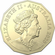 50 Cents - Elizabeth II (6th Portrait - The Man from Snowy River) – obverse