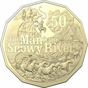 50 Cents - Elizabeth II (6th Portrait - The Man from Snowy River) – reverse