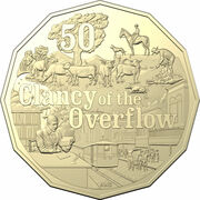 50 Cents - Elizabeth II (6th Portrait - Clancy of the Overflow) – reverse
