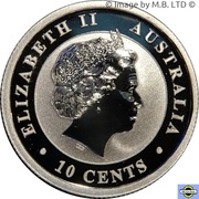 10 Cents - Elizabeth II (4th Portrait - Koala - Silver Bullion Coinage) -  obverse