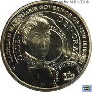 1 Dollar - Elizabeth II (4th portrait - Lachlan Macquarie) -  reverse