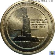 1 Dollar - Elizabeth II (4th Portrait - Submarines) -  reverse