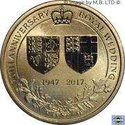 1 Dollar - Elizabeth II (4th Portrait - 70th Wedding Anniversary) -  reverse