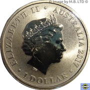 1 Dollar - Elizabeth II (4th Portrait - Henry Lawson - 150 Years) -  obverse