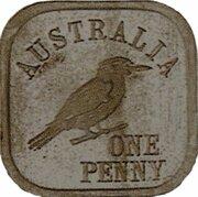 1 Penny - George V (Kookaburra Pattern - Type 8) – reverse