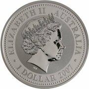 1 Dollar - Elizabeth II (4th Portrait  - Year of the Rat - Silver Bullion Coin) -  obverse