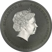 50 Cents - Elizabeth II (4th Portrait - Year of the Mouse - Silver Bullion Coin) – obverse