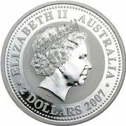 2 Dollars - Elizabeth II (4th portrait - Year of the Ox - Silver Bullion Coin) -  obverse