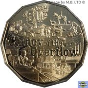 50 Cents - Elizabeth II (6th Portrait - Clancy of the Overflow) -  reverse