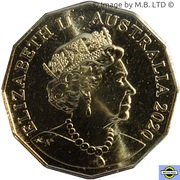 50 Cents - Elizabeth II (6th Portrait - The Man from Snowy River) -  obverse