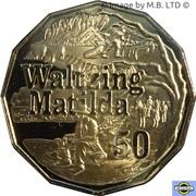 50 Cents - Elizabeth II (6th Portrait - Waltzing Matilda) – reverse