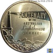 1 Dollar - Elizabeth II (4th Portrait - Centenary of Australian Lighthouses) -  reverse