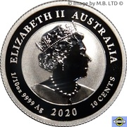 10 Cents - Elizabeth II (6th Portrait - 75th Anniversary of the end of WWII) -  obverse