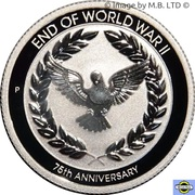 10 Cents - Elizabeth II (6th Portrait - 75th Anniversary of the end of WWII) – reverse