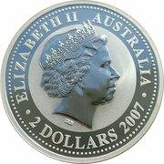 2 Dollars - Elizabeth II (4th Portrait - Year of the Rat - Silver Bullion Coin) -  obverse