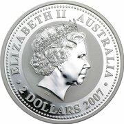 2 Dollars - Elizabeth II (4th Portrait - Year of the Tiger - Silver Bullion Coin) -  obverse