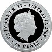 50 Cents - Elizabeth II (4th Portrait - Proclamation Shilling Tribute) -  obverse