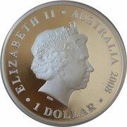 1 Dollar - Elizabeth II (4th Portrait - Christmas Island - Silver Proof) -  obverse