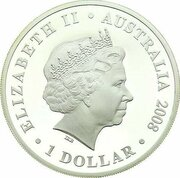 1 Dollar - Elizabeth II (4th Portrait - The First Fleet - Silver Proof) -  obverse