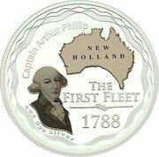 1 Dollar - Elizabeth II (4th Portrait - The First Fleet - Silver Proof) -  reverse