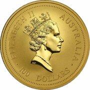 100 Dollars - Elizabeth II (3rd Portrait - Year of the Ox - Gold Bullion Coin) -  obverse