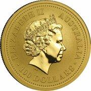 100 Dollars - Elizabeth II (4th Portrait - Year of the Monkey - Gold Bullion Coin) -  obverse