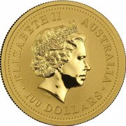 100 Dollars - Elizabeth II (4th portrait - Year of the Pig - Gold Bullion Coin) -  obverse