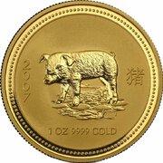 100 Dollars - Elizabeth II (4th portrait - Year of the Pig - Gold Bullion Coin) -  reverse