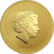 100 Dollars - Elizabeth II (4th Portrait - Year of the Dragon - Gold Bullion Coin) -  obverse
