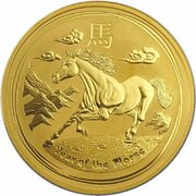 100 Dollars - Elizabeth II (4th Portrait - Year of the Horse - Gold Bullion Coin) -  reverse