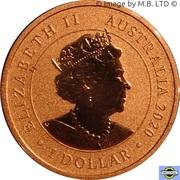 1 Dollar - Elizabeth II (6th Portrait - Year of the Mouse) – obverse