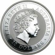 10 Dollars - Elizabeth II (4th Portrait - Year of the Dog - Silver Bullion Coin) -  obverse