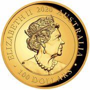 100 Dollars - Elizabeth II (6th Portrait - Swan - Gold Bullion Coin) -  obverse
