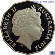 50 Cents - Elizabeth II (4th Portrait - 50th Anniversary of the Australian Ballet - Silver Proof) – obverse