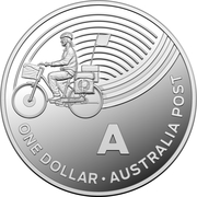 1 Dollar - Elizabeth II (4th Portrait - The Great Aussie Coin Hunt - Letter A - Silver Proof) -  reverse