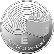 1 Dollar - Elizabeth II (4th Portrait - The Great Aussie Coin Hunt - Letter E - Silver Proof) -  reverse